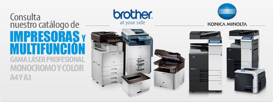 Impresoras multifunción Konica Minolta y Brother